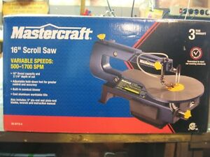 "MASTERCRAFT 16"" Variable Sped Scroll Saw"