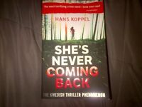She's Never Coming Back Book by Hans Koppel $5.00