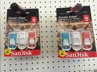 Ten Triple Packs 16gig SanDisk Cruzer Edge Flash Drive Memory Sticks