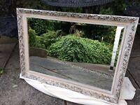 Shabby chic mirror vintage mirror ornate mirror