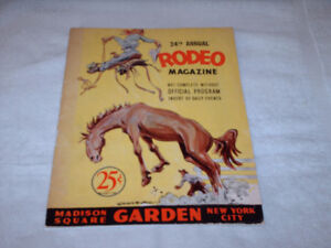1945 MADISON SQUARE GARDEN, 20TH  ANNUAL RODEO MAGAZINE