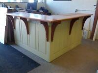 6' sq. Solid Cherry Reception Counter or Bar w/ thick Cherry top