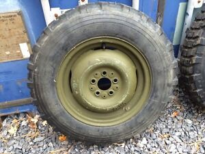 Michelin X 6.50 XCL Tires on Rims Like New Military Jeep