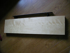 2 IKEA FLOATING SHELVES, One Bleached Oak/Dark Brown
