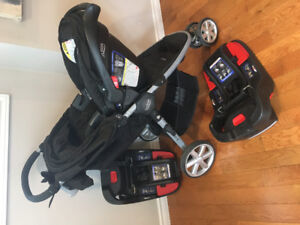Britax B-Agile travel system with extra base