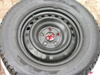 (4)Firestone P235/65r16 winter and Honda Odyssey rims 5X120 TPMS
