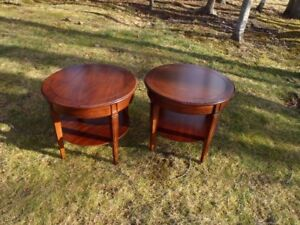 Pair of Round End Tables