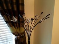 Tall Flower and Leaf Effect Floor Lamp