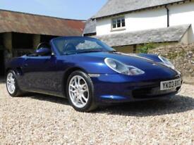 Porsche 986 Boxster 2.7 - facelift, sub-40k miles, flawless Lapis Blue paint