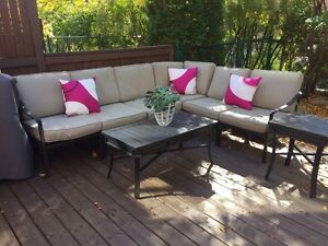 Patio sofa sectional 5 places Glukstein Home