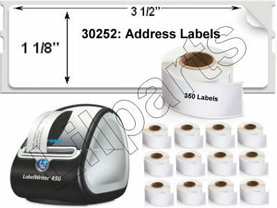 1- 20 Rolls 1-18x3-12 Direct Thermal Address Labels 350 Roll Dymo 450 Costar