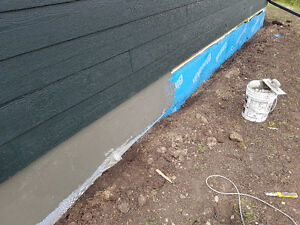 Parging services in Calgary and area ( www.stuccoexperts.ca )