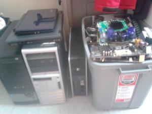 2 laptop + 3 ordis + tonne de pièces