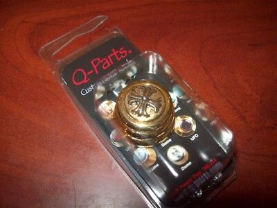 NEW - Q-Parts Ringo Knob - CROSS ON GOLD, KGR-0610