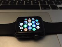 Apple Watch Sport 42mm Space Grey Black 3 month old