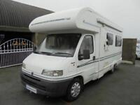 Bessacarr E625 four berth motorhome with rear lounge