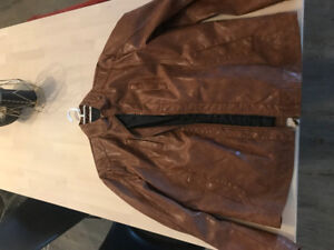 Light Brown Le Chateau Leather Jacket