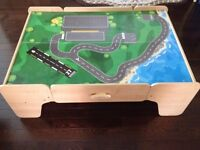 Train table with wooden Thomas Trains, Tracks & Accessories