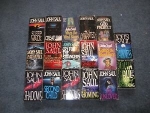 17 John Saul softcover books $15 for the lot