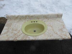 Dessus de comptoir avec lavabo