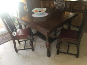Vintage Dining Room Set with Two matching Buffets
