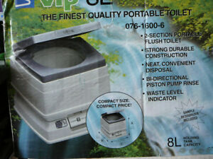 NEW: 8L The Finest Quality Portable Toilet for camping or boat..