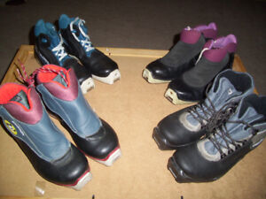 Cross Country Ski Boots in Various Styles and Sizes