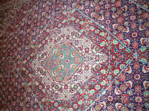 SEMI ANTIQUE LARGE HAND KNOTTED PERSIAN RUGS