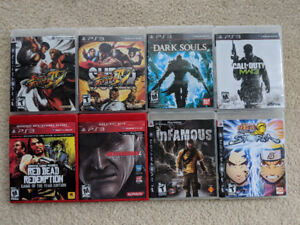 Lot of PS3 Games (13 total, see ad for prices)