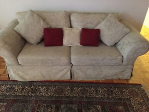 Bed room set and a couch urgent sale
