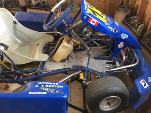 Racing Go Kart - 4 stroke - Great condition with stand
