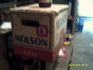 Quart beer bottles in cases