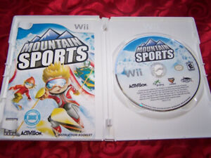 5 wii CD's for sell deal