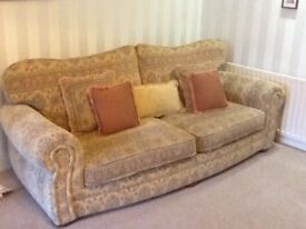 Three Seater sofa and cosy chair