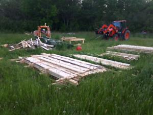 Rough sawn spruce