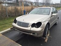 Mercedes C 320 2002 POUR PIECES / FOR PARTS