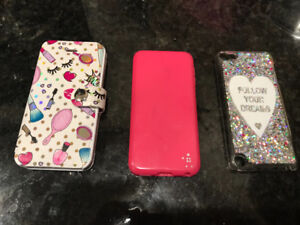 Selling 3 girls iPod 4th/5th generation cases for $10.09