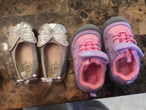 Toddler girl shoes - size 5 - 2 pairs (barely used)