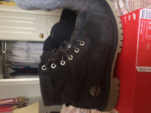 Black Timberland Winter Boots