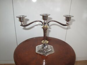 Silver plated candelabra (with gold accents)