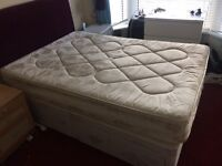 Double divan bed and mattress for sale