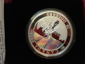 RCM 2013 $20 Fine Silver coin - The Great Hare Hologram Coin