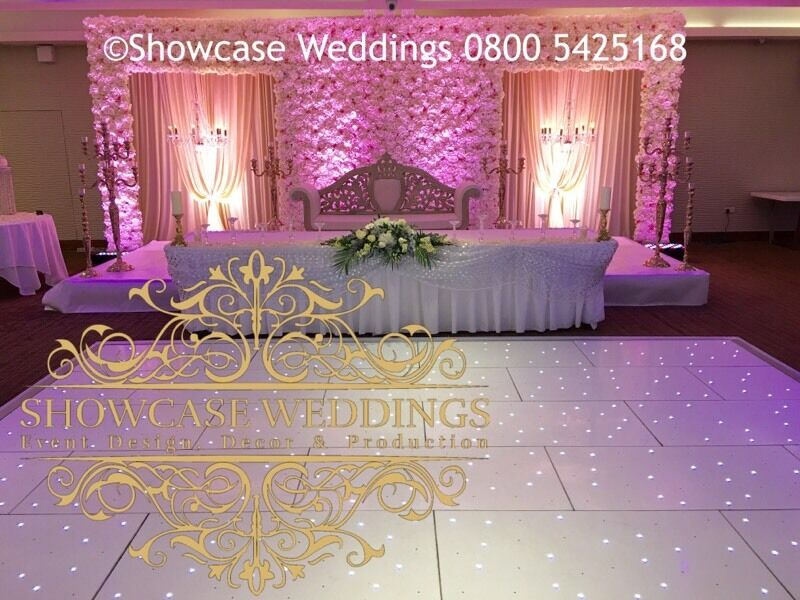 Wall Event Decoration : Luxury wedding stage event decor flower wall hire indian