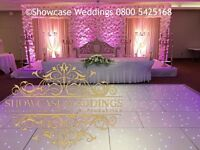 Luxury wedding stage event decor flower wall hire indian asian nigerian decorations centre pieces