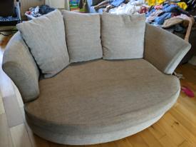 Grey cuddle sofa seat