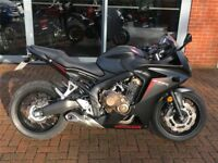CBR 650 F only 759 miles, satin black (best colour), with tail tidy , 1st service done (at Honda)