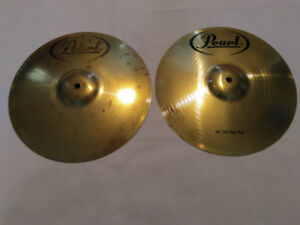"Cymbales hi-hat Top +Bottom 14"" pearl Cymbal Drum A+++"