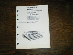 New Holland 919 Harvest Attachments Operators Manual