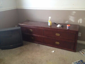 TWO NICE DRESSERS AND ONE TEA TABLE--FREE--MOVING