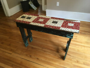 Antique Table for Foot of Bed